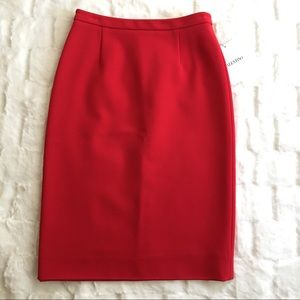 VALENTINO RED PENCIL SKIRT